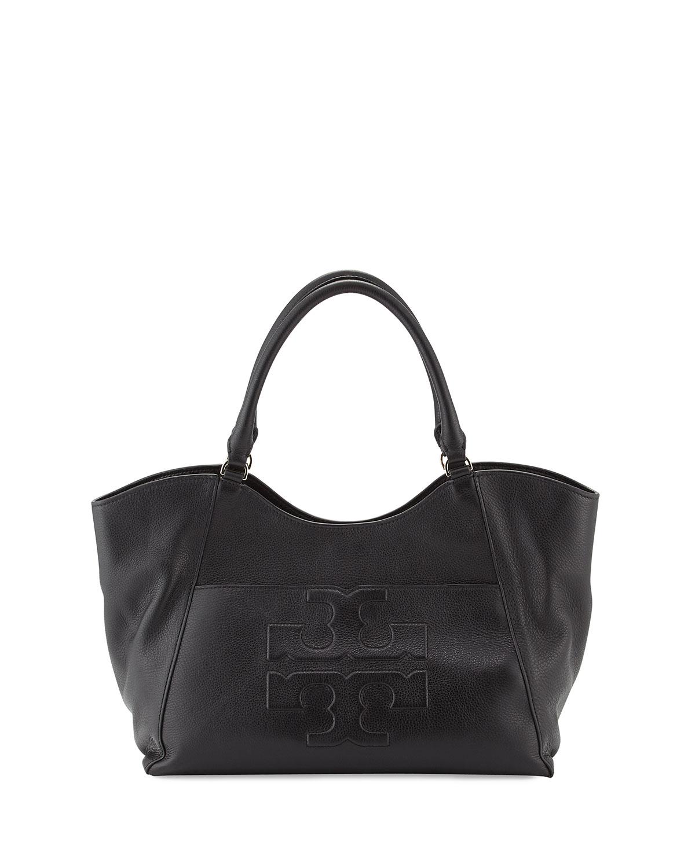 09137843f129 Tory Burch Bombé-T Leather Tote Bag