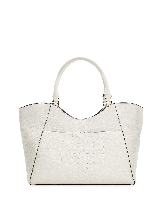98626e301940 Tory Burch Bombé-T Leather Tote Bag