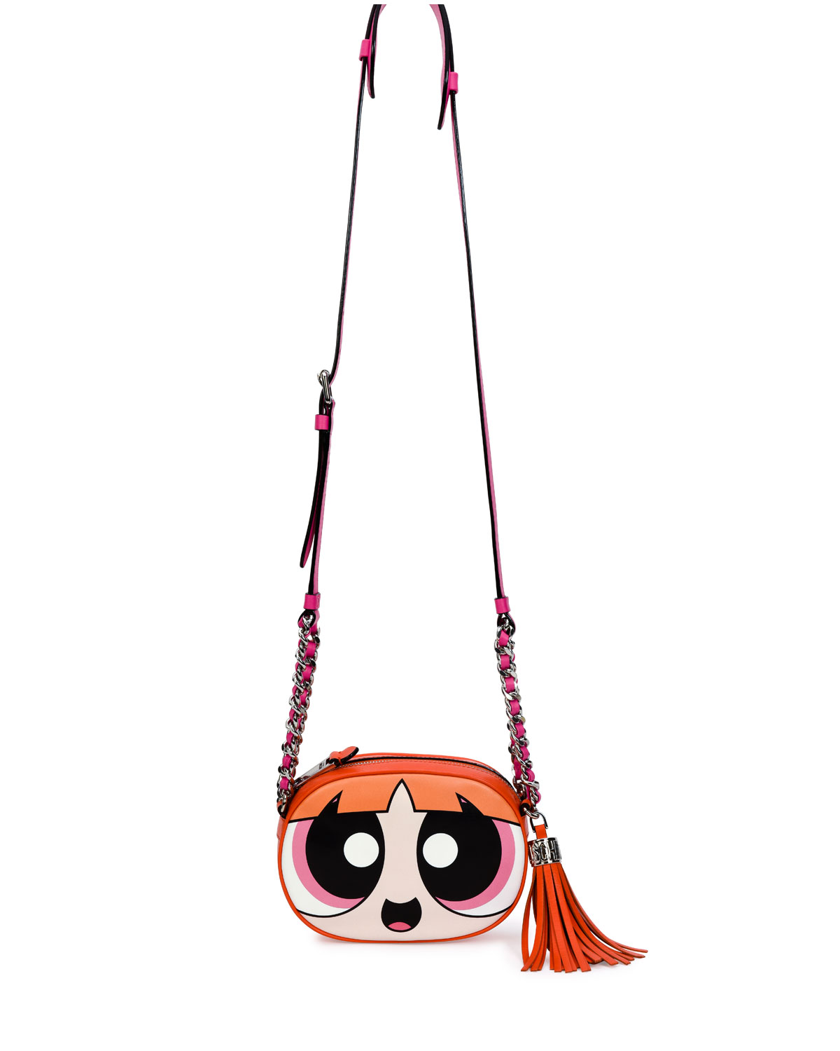 7184810072 Moschino Powerpuff Girl Leather Shoulder Bag | Neiman Marcus
