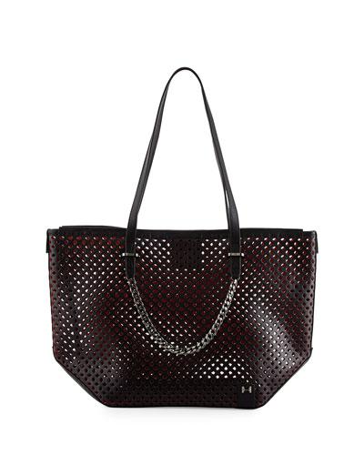 e6e1c453c9 Halston Heritage Perforated Leather Tote Bag