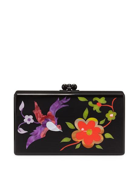 Jean Garden Clutch Bag, Black Multi