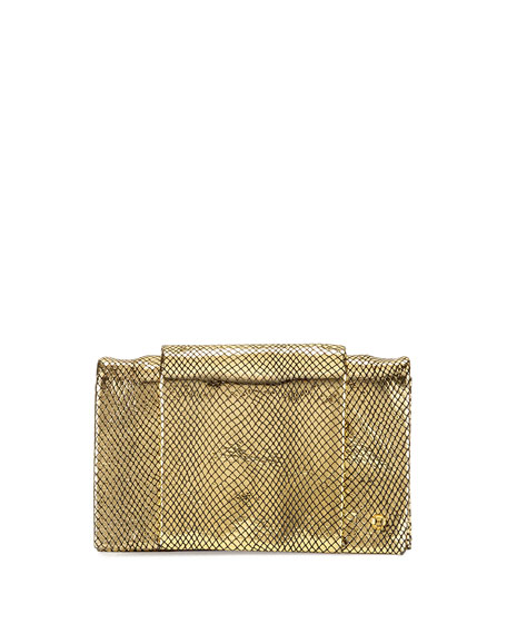 Halston Heritage Wallet-On-Chain Crossbody Bag, Gold