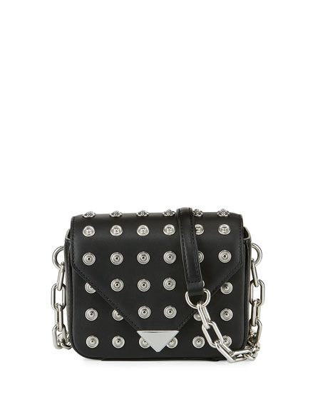 Alexander Wang Mini Leather Prisma Crossbody Bag, Black