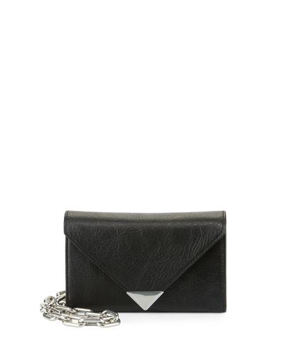 Prisma Envelope Chain Shoulder Bag, Black
