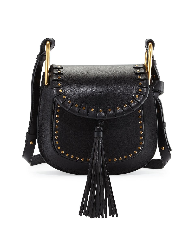 8c835f7b2dcb Chloe Hudson Large Studded Leather Saddle Bag
