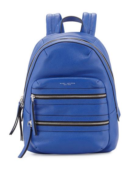 Marc Jacobs Leather Biker Backpack, Cobalt