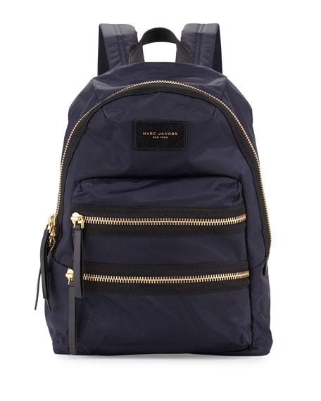 Nylon BIker Backpack, Midnight