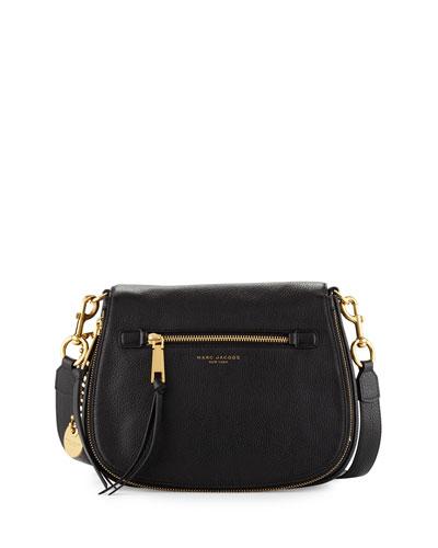 Recruit Leather Saddle Bag, Black