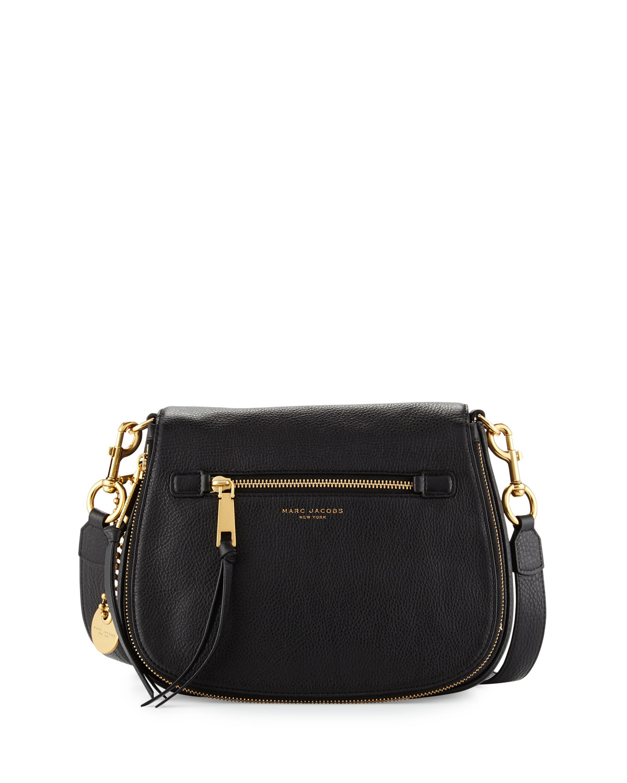 de935e41774 Marc Jacobs Recruit Leather Saddle Bag, Black | Neiman Marcus