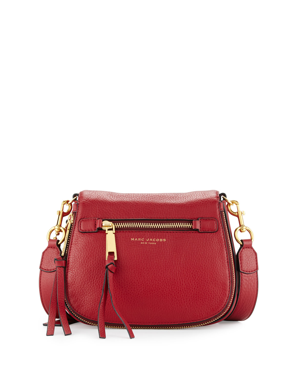 124a9b6a616b28 Marc Jacobs Recruit Small Saddle Bag, Ruby Rose | Neiman Marcus