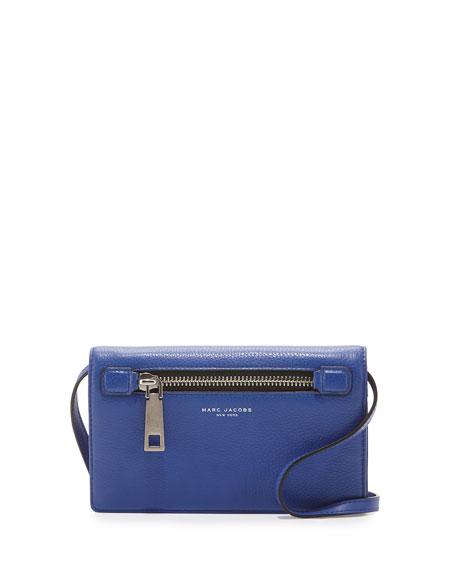 Marc Jacobs Gotham City Leather Wallet-On-Strap, Cobalt