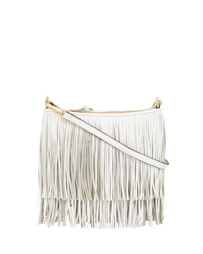 Finn Fringe Crossbody Bag, White