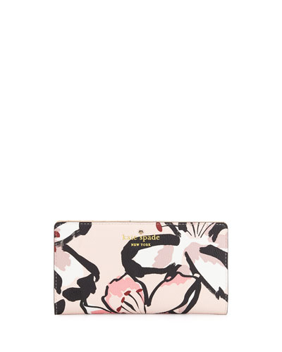 hawthorne lane floral-print stacy wallet, antilles bubbles
