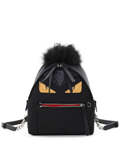 Mini Monster Mohawk Backpack, Black