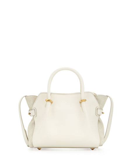Nina Ricci Marche Extra-Small Leather Satchel Bag, Ivory