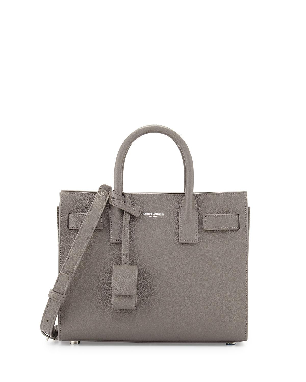 ac27a86c8f Saint Laurent Sac de Jour Nano Leather Satchel Bag