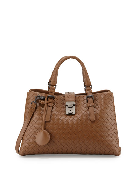 Bottega Veneta Roma Mini East-West Leather Tote Bag,