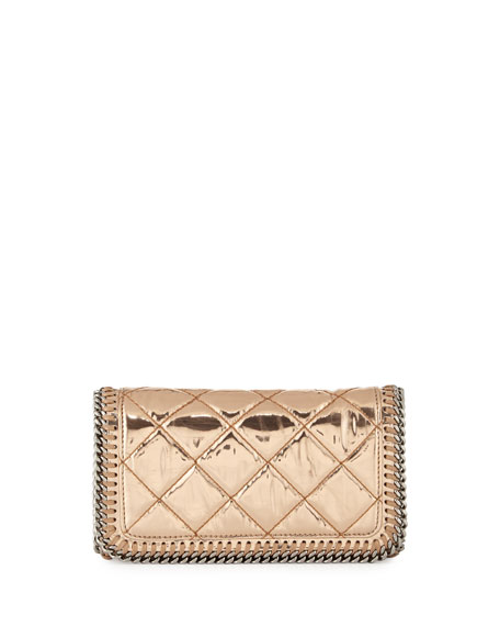 Stella McCartney Falabella Crossbody Clutch Bag, Copper