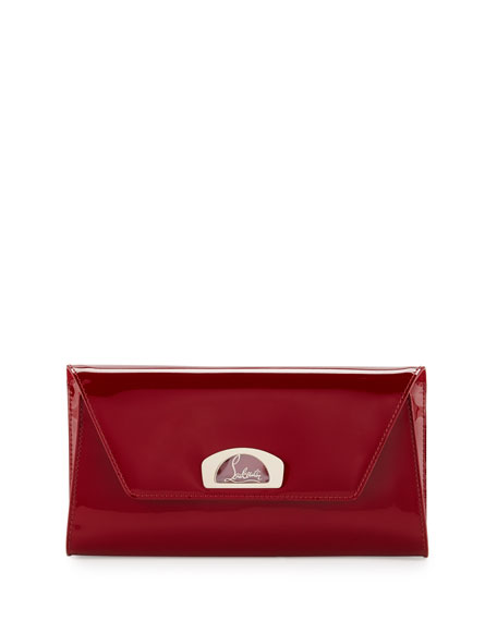 Vero Flap Patent Clutch Bag, Red