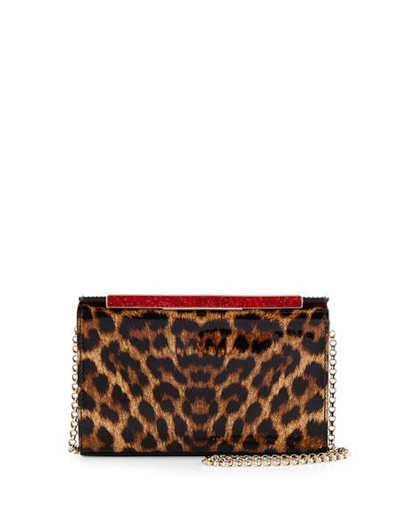Christian Louboutin Vanite Small Leopard-Print Clutch Bag