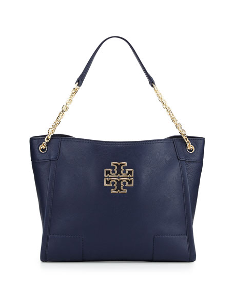 Tory Burch Britten Small Slouchy Tote Bag, Hudson
