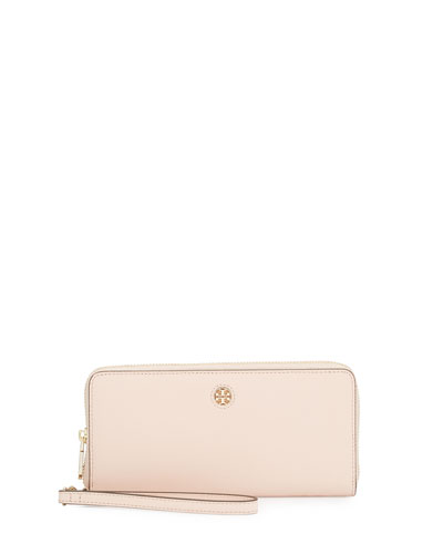 Perry Saffiano Continental Passport Wallet, Pale Apricot