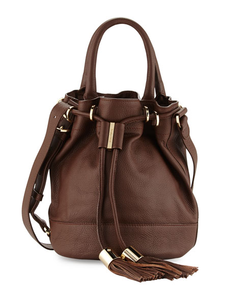 See by Chloe Vicki Leather Bucket Bag, Chocolate