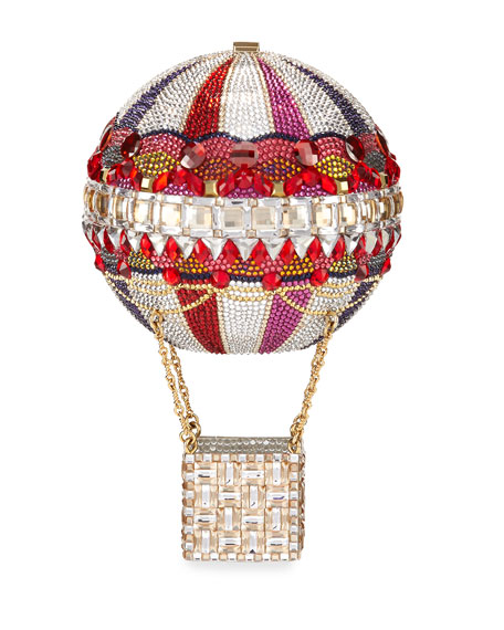 Hot Air Balloon Savannah Crystal Clutch Bag