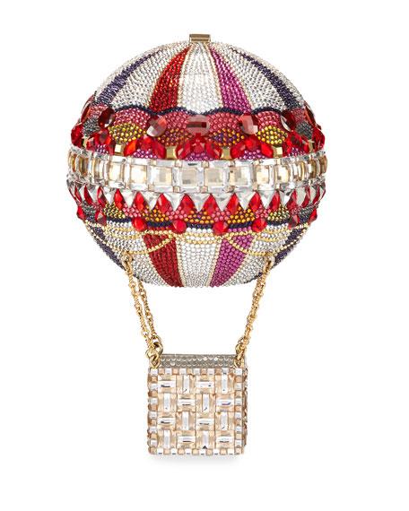 Hot Air Balloon Savannah Crystal Clutch Bag