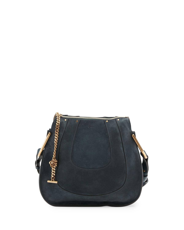 9111ba879d Hayley Small Suede Hobo Bag, Blue