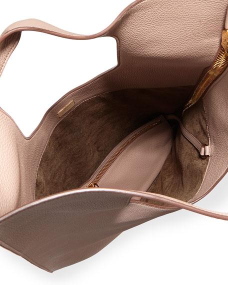 Alix Leather Padlock & Zip Hobo Bag
