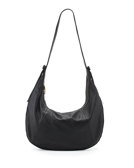 Elizabeth and James Zoe Large Leather Hobo Bag,