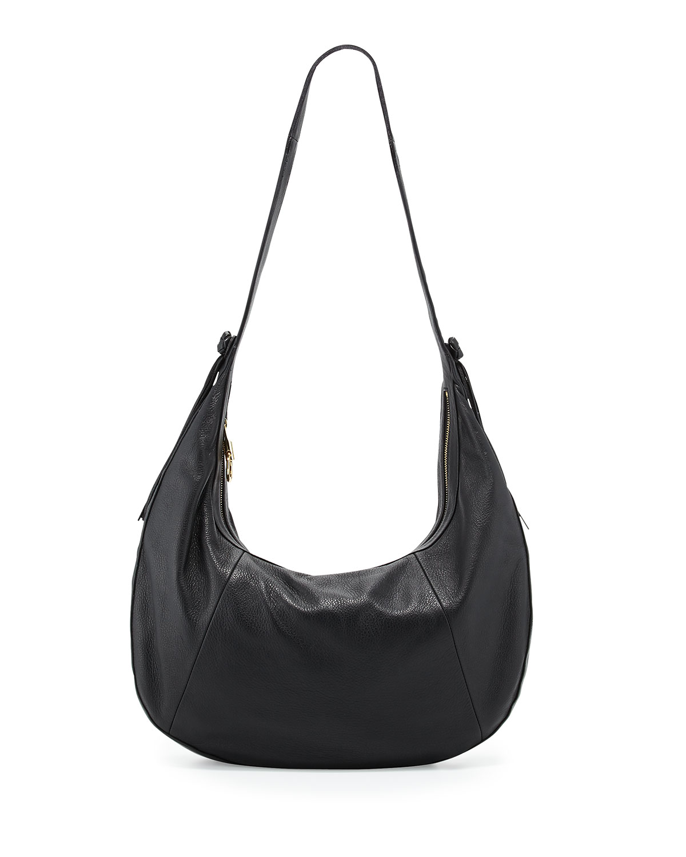 5706167ac Elizabeth & James Zoe Large Leather Hobo Bag, Black | Neiman Marcus