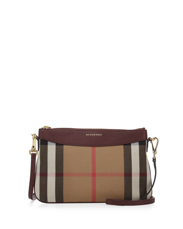 f05e11cb82e2 Burberry Peyton House Check   Leather Clutch Bag