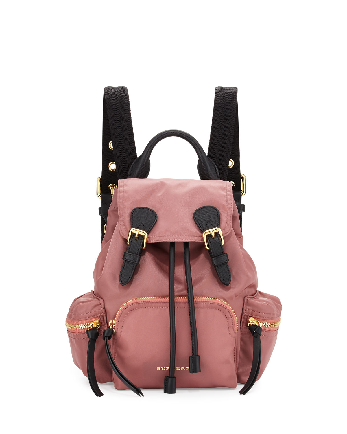 Pink Small Nylon Rucksack Burberry