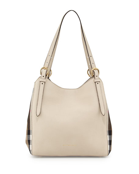 Burberry Canterby Small Check Shoulder Bag, Limestone