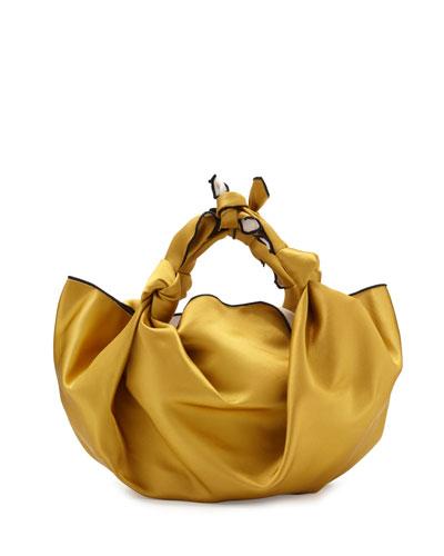 The Ascot Small Satin Hobo Bag, Sunflower