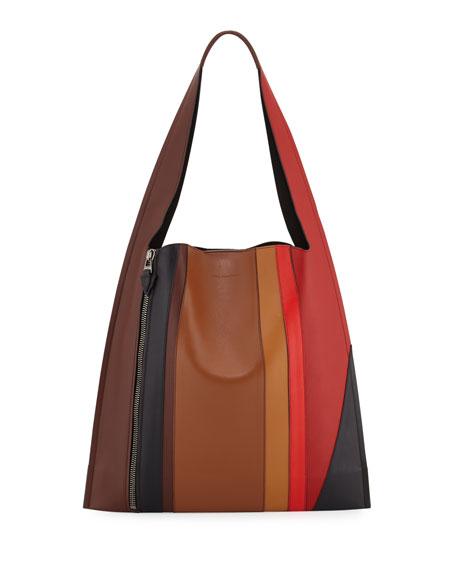 Estia Sensua Leather Hobo Bag, Burning Lines