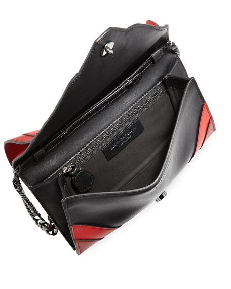 Selina Sensua Leather Small Clutch Bag, Burning Lines