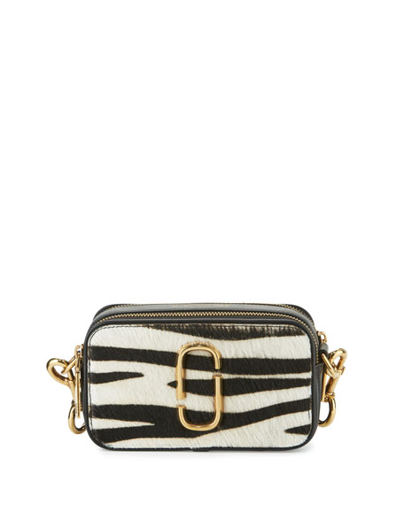 Marc Jacobs Snapshot Zebra Calf-Hair Small Camera Bag,