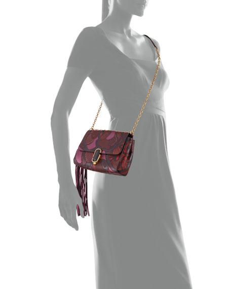 J Marc Snake Patchwork Shoulder Bag, Rubino Multi