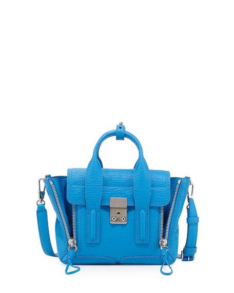 3.1 Phillip Lim Pashli Mini Satchel Bag, Cyan
