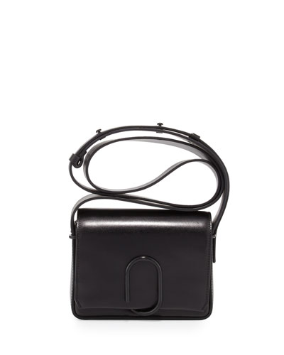 Alix Flap Mini Crossbody Bag, Black