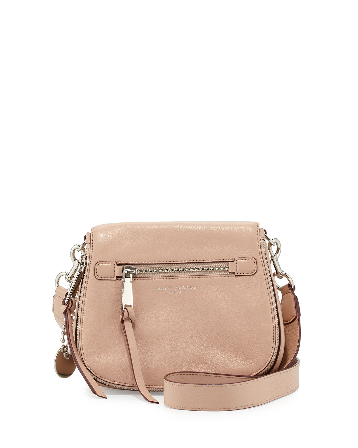 Marc Jacobs Recruit Small Leather Saddle Bag, Nude   Neiman Marcus e19ade239c