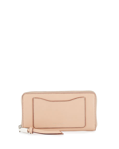 Marc JacobsRecruit Leather Continental Zip Wallet, Nude