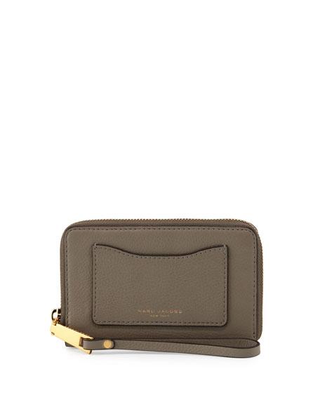 Marc Jacobs Recruit Zip-Around Phone Wristlet Wallet, Mink