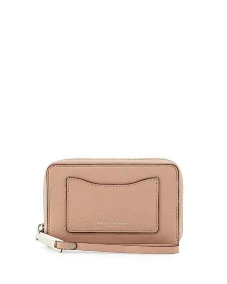 Marc Jacobs Recruit Zip-Around Phone Wristlet Wallet, Nude