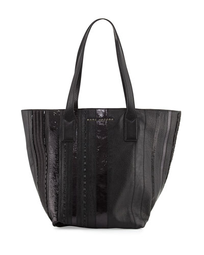 Wingman Striped Tote Bag, Black