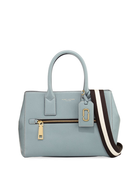 Marc Jacobs Gotham Leather Tote Bag, Midnight Blue