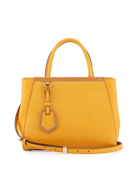 2Jours Petite Saffiano Tote Bag, Dark Yellow